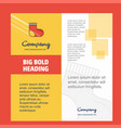 socks company brochure title page design company vector image vector image