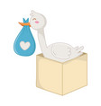 stork with bos vector image vector image