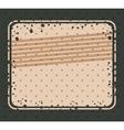 Striped and grunge retro frame design vector image