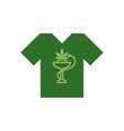 t-shirt with snake and bowl marijuana leaf vector image
