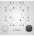 The structure of the blank geometric shapes with vector image