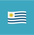 uruguay flag icon in flat design vector image
