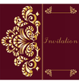 Vintage Invitation card with ornament vector image vector image
