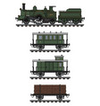 vintage steam train vector image vector image