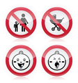 Warning sign no babies no children vector image vector image