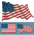waving union flag 1861-1863 vector image vector image