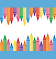 wax colorful crayons vector image vector image