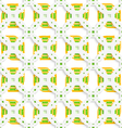 White perforated ornament with green orange vector image
