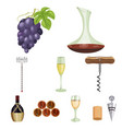 wine products growing grapes winevine vector image vector image