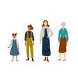 women different ages generation people vector image