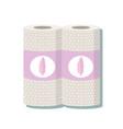cartoon kitchen paper towel vector image