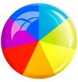 Colored button design element vector image