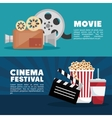 movie cinema festival banner info design vector image