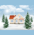 winter landscape residential building vector image