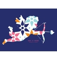 abstract colorful stars shooting cupid vector image vector image