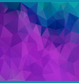 abstract irregular polygon background purple blue vector image vector image