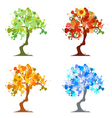 Abstract Trees Four Seasons vector image vector image
