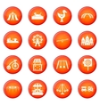 Amusement park icons set vector image vector image