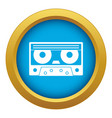 audio cassette tape icon blue isolated vector image vector image