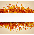 autumn paper background with golden leaves vector image