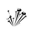 bang symbol isolated burst bomb vector image