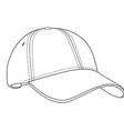 Baseball cap outlinme vector image vector image