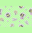 bee happy seamless vector image vector image