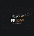 black friday sale black tag round banner vector image vector image