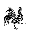 Black silhouette of an cock vector image vector image