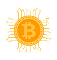block chain bitcoin circuit vector image