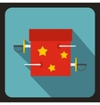 Box of tricks with daggers icon flat style vector image vector image
