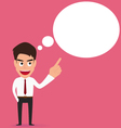 Businessman Speech bubble vector image vector image