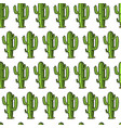cactus seamless pattern succulent or tropical vector image vector image