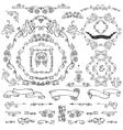 Calligraphic Royal Design ElementsFramesBorders vector image vector image