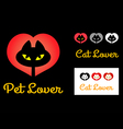 Cat Lover Symbol vector image