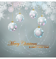 Christmas balls and lace vector image