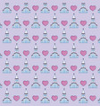 church and hearts background vector image