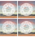 Circle line infographics set Template for cycle vector image vector image