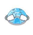 crying igloo ice house isolated on mascot vector image vector image