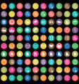 document 100 icons universal set for web and ui vector image vector image