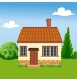 Eco friendly house on a background of nature vector image