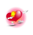 fashionable heart in a cap and sneakers vector image vector image