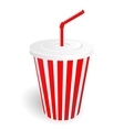 fast food cup vector image