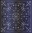 Floral Pattern on a Dark Blue Background vector image