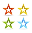 Full color star icons vector image vector image