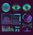 futuristic interface space motion graphic vector image vector image