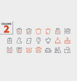 garbage outlined pixel perfect well-crafted vector image