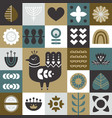 geometric folk art background seamless pattern vector image
