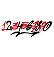 graffiti numbers vector image