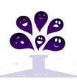 halloween ghost creatures vector image
